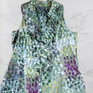 Ann Taylor Sleeveless shirts with ruffles